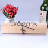 Fashion Cheap Birch Venner Single Bottle Cylinder Wooden Wine Gift Box                                                                         Quality Choice