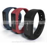 BT4.0 Touch Screen Intelligent Bracelet with 32 characters showing one time