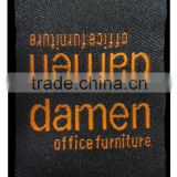 Customized High density Satin Woven Label for garment clothing pants jean mattress