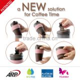 Food grade reusable silicone coffee cup