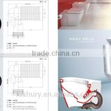 Watermark ROHS toilet shift pipe, toilet pan tube