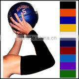 Black Sports Protection Basketball pro Tennis Golf Cycling Muscle Top Skin Arm Sleeves