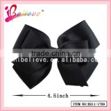 Grosgrain hair accessories, made in China black christmas bow clip,black bow ties