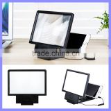 Folding Cell Phone Stand Holder HD Amplifiers 3D Mobile Phone Screen Magnifier with Speaker