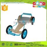 2015 Factory wholesale price plywood fancy wooden cart toy, 4 wheel wooden toys cart for kids