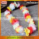 Wedding decoration hawaiian Flowers lei Garlands with leaf Hawaii Necklace
