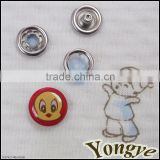Custom cute kids logo Metal prong snap button for clothing