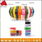 Hot Sale Fashion Colorful Eco-friendly Beautiful Design Silicone Rubber Belt With Plastic Buckle