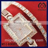 fashion rhinestone bracelet wristwatches for women-women's fashion rhinestone chain bracelet wristwatches