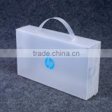 Hard plastic moving tote storage box