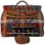 Moroccan kilim bags handmade by kilim and genuine leather multicoloured kilim carpet
