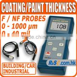 Gauge F/NF Probes Automotive Painting Paint Coating Thickness Meter