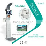 SK-X60 Ultrasonic weighing scale with Omron blood pressure
