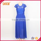 Custom design apparel chiffon short sleeve evening dresses latest dress designs for ladies