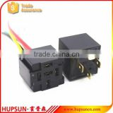 Square type 12v 24v 40A 4PIN relay base, Female car relay base, brass terminal relay base
