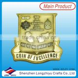 OEM gold plating lapel pin badge with your own design metal badge maker