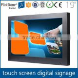 FlintStone 19 inch transparent pen touch lcd display, commercial digital advertising monitor, advertising video player