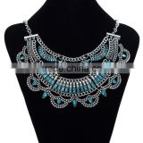 Hot Bohemian style vintage chunky necklace statement crystal pendant necklace