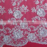 Sequins Embroidery Applique Fabric Mesh Besed