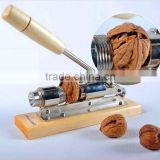 2016 New Home Tools Walnut Cracker, Metal Material Nutcracker Sheller, Nut Opener With Wooden Handle Kitchen Tool