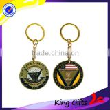 Personalized Design United States Military Police Challenge Coin With Plated Gold Key Chain