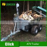 Small atv wood trailer for timber log wood                                                                         Quality Choice