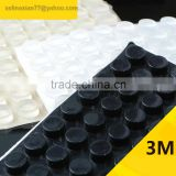 12.5*6.2mm Cylinder Self Adhesive Transparent Anti Slip Bumpers Silicone Rubber Feet Pads High Sticky Shock Absorber
