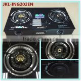tempered glass top energy saving 2 burner gas stove, gas cooker