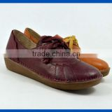 The latest flat leather design for all ladies ,new design woman casual leather shoe for footwear