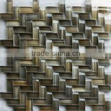 Foshan Mosaic New Design Knitted Arch Crystal Glass Mosaic Tile for Wall Decoration MBG-015