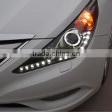 auto part for hyundai sonata 2011 up angel eye led head lamp modified head light (ISO9001&TS16949)