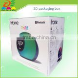 custom design printed CD/VCD/DVD recycled material feature	animated 3d plastic PET box packaging