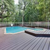 Swimming poor waterproof WPC decking anti-slip wpc outdoor swimming pool flooring                                                                                                         Supplier's Choice