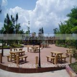 Antiseptic wood plastic composite decking, waterproof laminate flooring, outdoor deck floor covering, wpc decking
