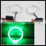 green color 80mm cre.e led angel eyes head lamp projector xenon bulb CE-certificate headlight for car led halo rings kit