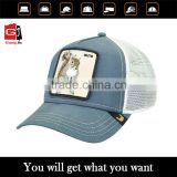 OEM/ODM Design 3D Embroidery Animal Logo Trucker Hat Plain Mesh Baseball Cap Wholesale                                                                                                         Supplier's Choice