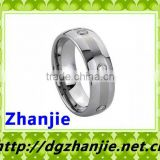 44021 fashion cute couple tungsten ring with stones