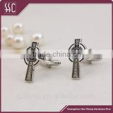 new fashion shiny silver jewelry men's cufflink