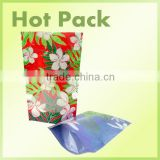 14oz oil packaging bag resealable doypack with clear window custom printed plastic zip bag