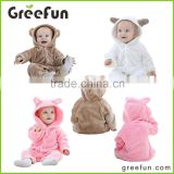 2016 winter new style bear animal modelling baby rompers children's clothing suits baby rabbit jumpsuit