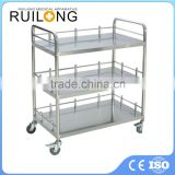 Factory Outlet Cheap 3 Tier Medical Stainless Steel Trolley