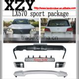 2014-2015 LX570 sport body kit for 2015 LX570 ,2015 Lexus change to Lexus sport body kit