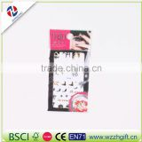 New arrived wholesale elegant fancy customized craft ecofriendly quality temporary NAIL STICKER BLE