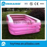 giant RED pvc inflatable family swimming SPA pool with 3 rings, customised transparent float swimming pool