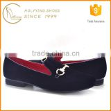 Metal Ornament Upper Gents Footwear European Style Men Shoes Italian