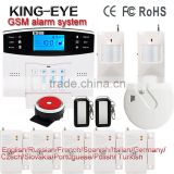 99 wireless defense zones support Russian/French/Spanish/Germany language alarm siren 120db security