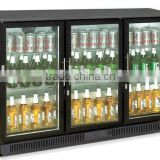 298L bar fridge with 3 glass display doors