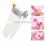Nail Art Brushes With12 Color Nail Art Stickers and 30 Mix Colors Rolls Striping Tape and 3D Nail metal studs