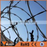 High security spiral Concertina Razor Barbed Blade Wire coil/Hot Dipped Galvanized Barbed Wire
