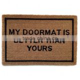 Vinyl Backing Coconut Natural Fibre Door Mats
